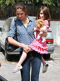 Katie Holmes and her daughter Suri Cruise in LA shop.