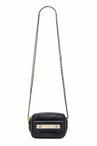 Mini Carter Camera Bag in Midnight Croc Nappa Leather, $1,000