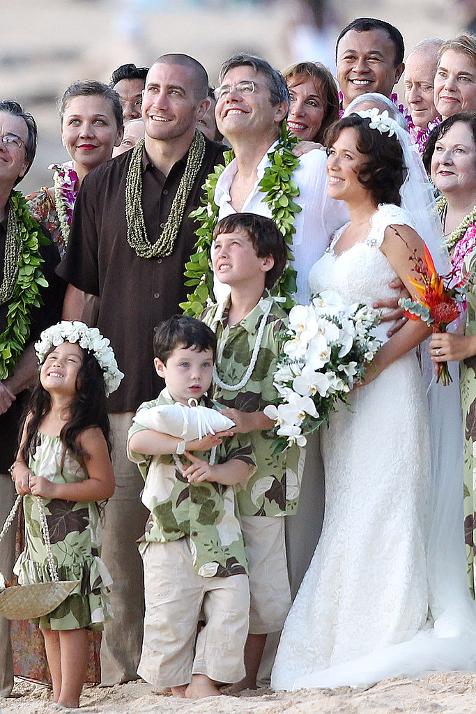 Jake Gyllenhaal at his dad's wedding.