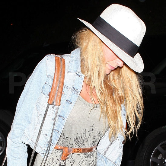 Blake Lively leaves a Stevie Wonder concert.