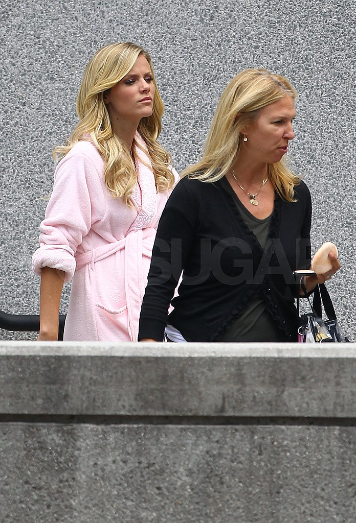 Brooklyn Decker Straps On a Baby Bump on the Set of What to Expect When You're Expecting