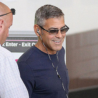 George Clooney Pictures at LAX