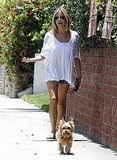 Kristin Cavallari's dog led the way.