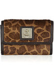 DKNY Printed Calf Hair Flap Wallet ($95)