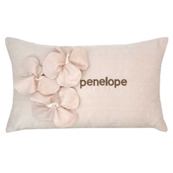 Personalized Flower Pillow ($74)
