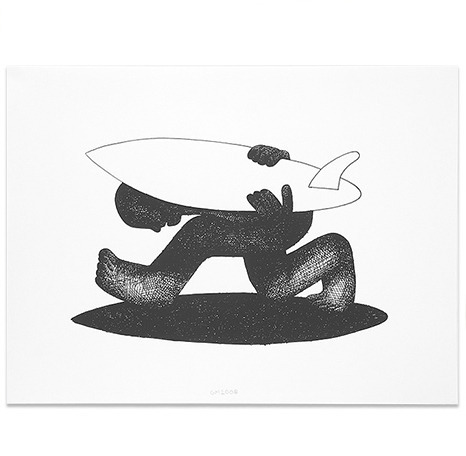 Add some quirky surfer style with affordable artwork like this Shadow Print ($50) by artist Geoff Mcfetridge.