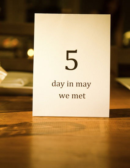 Special Table Numbers