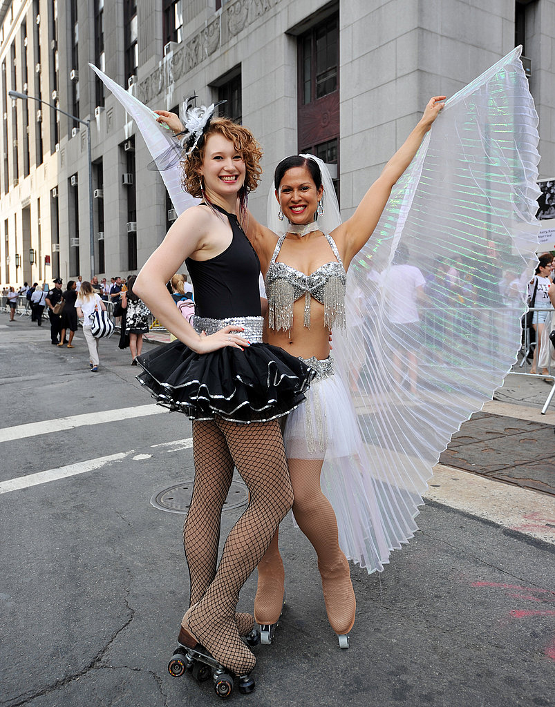 Sarah Zanolli and Marni Halasa roller skate to their wedding.