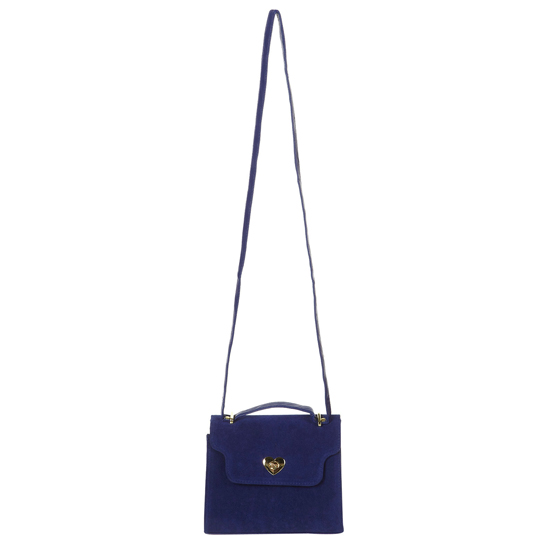 Topshop Blue Heart Lock Frame Bag, $50