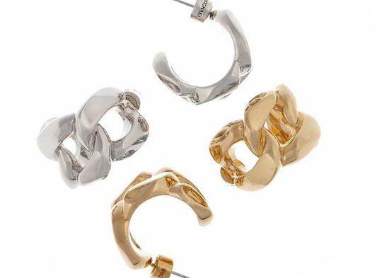Silvertone or Goldtone Link Earrings, $65 per pair