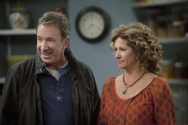 Tim Allen and Nancy Travis in ABC's Last Man Standing.  Photo copyright 2011 ABC, Inc.