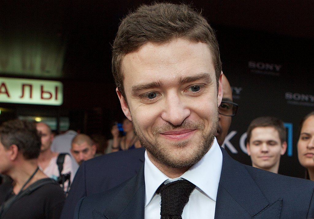 Justin Timberlake flashed a sexy smile.