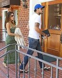 Eva Longoria and Eduardo Cruz headed to an Italian lunch.