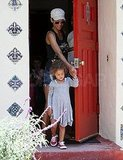 Halle Berry picked up Nahla Aubry from preschool.