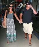Just-married Nick Lachey and Vanessa Minnillo at LAX.