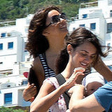 Eva Longoria took in the sights of Spain.