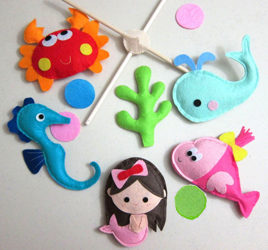 """Under the Sea"" Hanging Mobile ($78)"