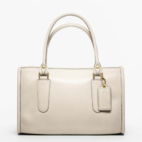 Coach Classic Leather Madison Satchel in White, $358
