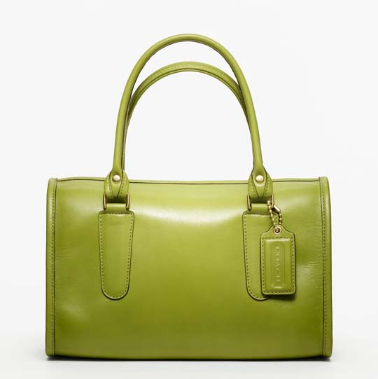 Coach Classic Leather Madison Satchel in Lime, $358