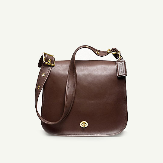 Coach Classic Leather Stewardess Bag in Mahogany, $358