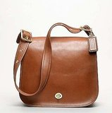Coach Classic Leather Stewardess Bag in British Tan, $358