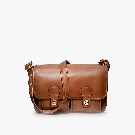 Coach Classic Leather Field Bag in British Tan, $498
