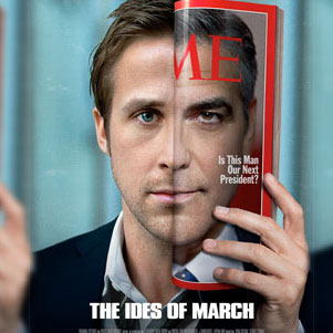 The Ides of March Movie Poster With Ryan Gosling and George Clooney