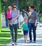Jennifer Garner with daughter Seraphina and Violet Affleck.