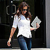 Katie Holmes Carrying Her iPad Leaving LA Studio Pictures