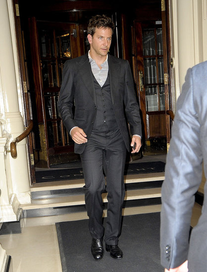 Bradley Cooper dressed up in London.