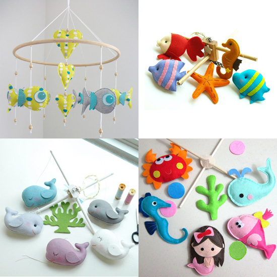 "Make a Splash: 5 ""Under The Sea"" Handmade Baby Mobiles"