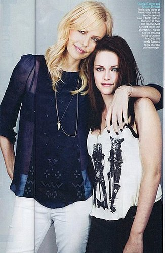 Entertainment Weekly scan of Kristen Stewart and Charlize Theron