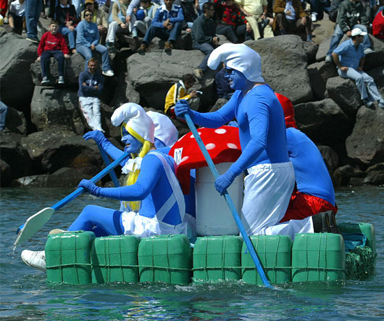 Row, Row, Row Your Smurfs