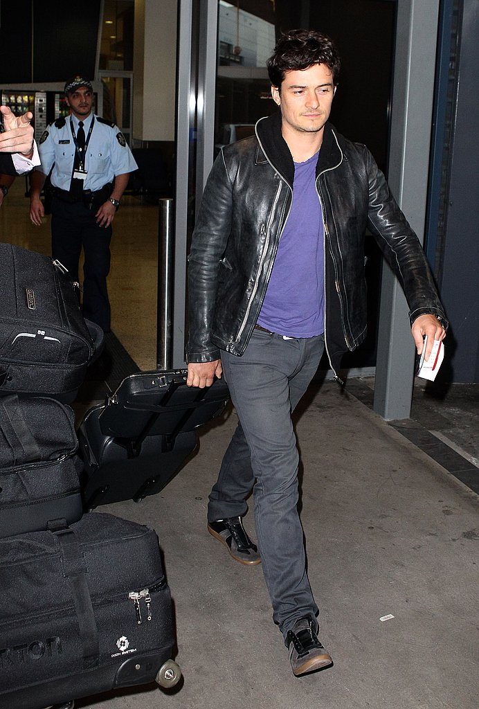 Orlando Bloom landed in Australia.