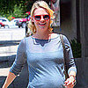 January Jones Pregnant at Little Dom's in LA Pictures