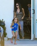 Courteney Cox and Coco Arquette leave an LA salon.