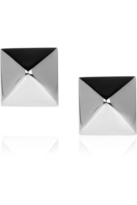 Anita Ko Spike 14-Karat White Gold Stud Earrings ($325)