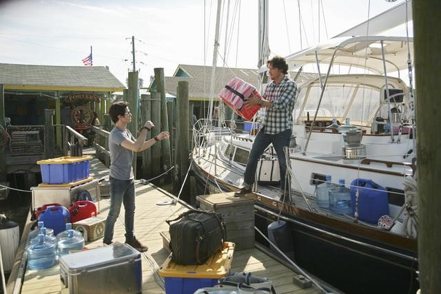 Connor Paolo and Nick Wechsler in ABC's Revenge.  Photo copyright 2011 ABC, Inc.