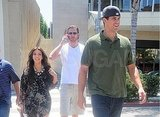 Kim Kardashian joined Kris Humphries for lunch in Beverly Hills.