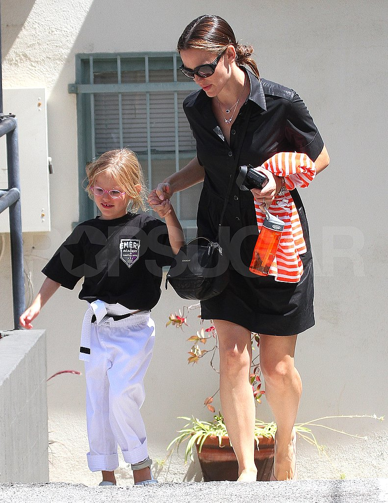 Jennifer Garner and Violet Affleck together in LA.