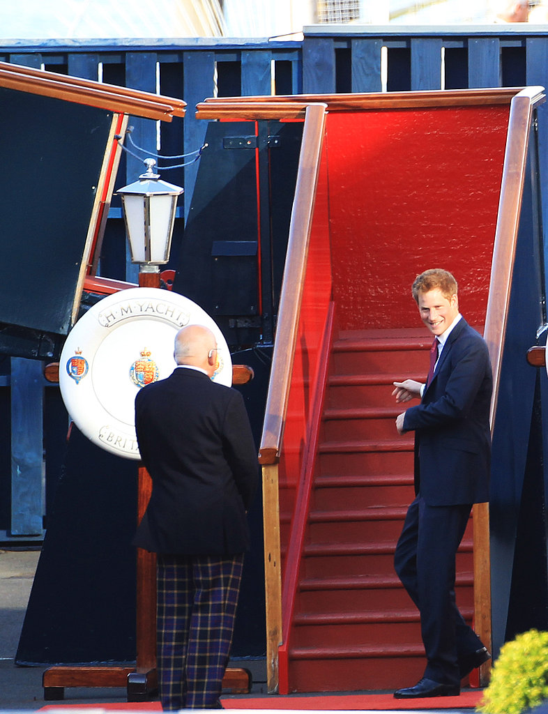 Prince Harry in Scotland for Zara Phillips's wedding.
