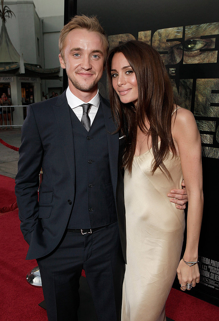 Tom Felton struck a sweet pose with his girlfriend, Jade Gordon.