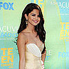 Selena Gomez Arriving at the Teen Choice Awards in a Short Dress Pictures