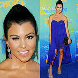 Kourtney Kardashian in electric blue dress at the 2011 Teen Choice Awards: Do you rate or hate her look?