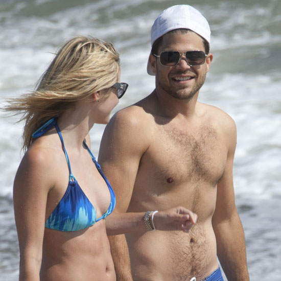 Shirtless Jerry Ferrara on the Malibu beach.