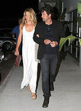 Jillian and Patrick Dempsey linked up leaving Nobu in Malibu.