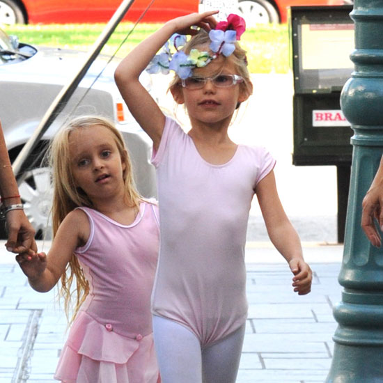 Violet Affleck and Ruby Magiure ready for ballet.