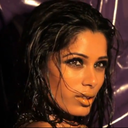 See Freida Pinto's Sexy L'Oreal Video Shoot 2011-08-02 18:10:39