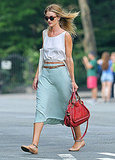 Rosie Huntington-Whiteley and Fellow VS Angel Erin Heatherton Do Lunch in NYC