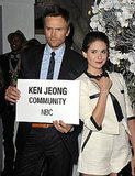 Alison Brie and Joel McHale.